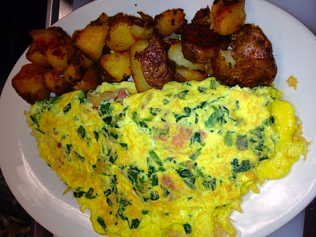 savory vegetable omelette with your choice of cheese. Choose egg beaters or eggs whites for a healthy alternative!